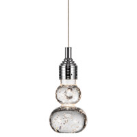 Xela LED Chrome Mini Pendant Ceiling Light