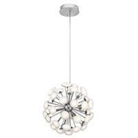 Elan 83279 Kotton LED 24 inch Satin Nickel Chandelier Ceiling Light