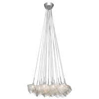 Icekubez 20 Light Chrome Pendant Ceiling Light