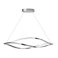 Elan 83385 Meridian LED 53 inch Chrome Island Pendant Ceiling Light