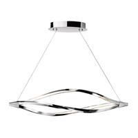 Meridian LED 43 inch Chrome Island Pendant Ceiling Light