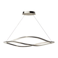 Meridian LED 53 inch Brushed Nickel Island Pendant Ceiling Light