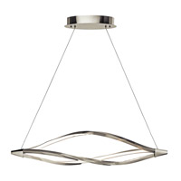 Meridian LED 43 inch Brushed Nickel Island Pendant Ceiling Light
