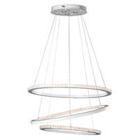 Elan 83405 Allos LED 36 inch Matte White Chandelier Round Pendant Ceiling Light
