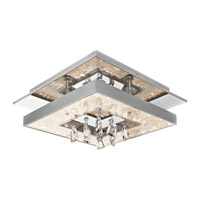 Elan Crushed Ice LED Flush Mount in Chrome 83411