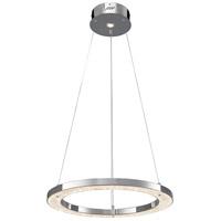 Elan 83415 Crushed Ice LED 24 inch Chrome Chandelier Round Pendant Ceiling Light