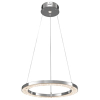 Elan 83415 Crushed Ice LED 24 inch Chrome Chandelier Round Pendant Ceiling Light