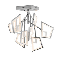 Elan Zium LED Semi-Flush in Chrome & Brushed Aluminum 83417