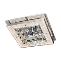 Crushed Ice LED 20 inch Chrome Flush Mount Ceiling Light