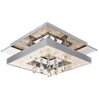 Elan 83431 Crushed Ice LED 14 inch Chrome Flush Mount Light Ceiling Light