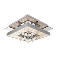 Elan 83431 Crushed Ice LED 14 inch Chrome Flush Mount Light Ceiling Light