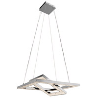 Crushed Ice LED 28 inch Chrome Pendant Ceiling Light