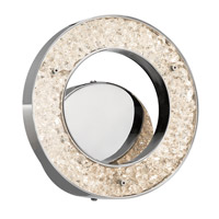 Elan 83434 Crushed Ice LED 4 inch Chrome ADA Wall Sconce Wall Light