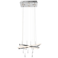 Maze LED 15 inch Chrome Chandelier Ceiling Light