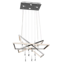 Maze LED 19 inch Chrome Chandelier Ceiling Light
