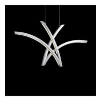 Zara LED 33 inch Chrome Linear Chandelier Ceiling Light