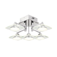 Elan 83528 Firosi LED 19 inch Chrome Semi-Flush Ceiling Light