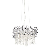 Alexa 7 Light Chrome Chandelier Round Pendant Ceiling Light