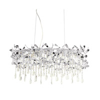 Alexa 5 Light 10 inch Chrome Chandelier Rectangular Pendant Ceiling Light