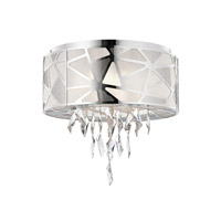 Elan Angelique 5 Light Flush Mount in Chrome 83585