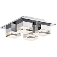 Elan Gorva 4 Light LED Flush Mount in Chrome 83602