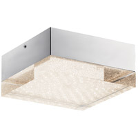 Gorva LED 10 inch Chrome Flush Mount Ceiling Light