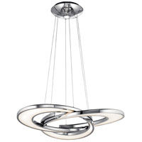 Elan Destiny 4 Light LED Chandelier Round Pendant in Chrome 83620