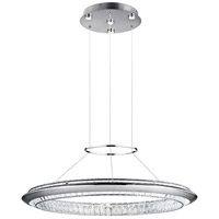 Elan 83623 Joez LED 39 inch Chrome Chandelier Round Pendant Ceiling Light