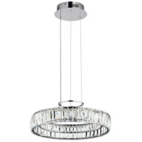 Elan Annette 1 Light LED Chandelier Round Pendant in Chrome 83624