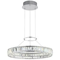Elan Annette 1 Light LED Chandelier Round Pendant in Chrome 83625