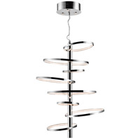 Elan Sirkus 11 Light LED Chandelier Round Pendant in Chrome 83665