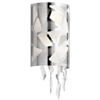 Elan 83674 Angelique 2 Light Chrome Wall Sconce Wall Light