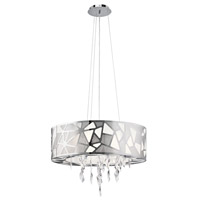 Angelique 3 Light Chrome Pendant Ceiling Light