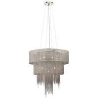 Elauna 10 Light Brushed Nickel Chandelier Ceiling Light