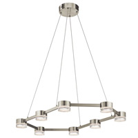 Avenza LED Brushed Nickel Pendant Ceiling Light