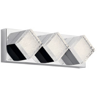 Elan 83716 Gorve LED 17 inch Chrome Linear Bath Wall Light Medium