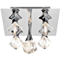 Elan Rockne 5 Light Flush Mount in Chrome 83773
