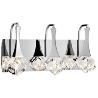 Rockne 3 Light 18 inch Chrome Vanity Light Wall Light