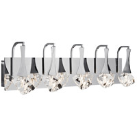Elan Rockne 5 Light Vanity Light in Chrome 83777