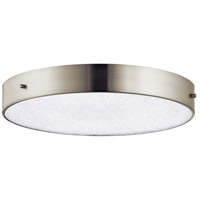Elan 83786 Crystal Moon LED 16 inch Brushed Nickel Flush Mount Ceiling Light