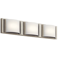 Signature 3 Light Brushed Nickel ADA Wall Bracket Wall Light