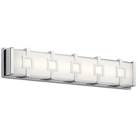 Elan 83904 Velitri LED 24 inch Chrome Vanity Light Wall Light