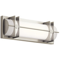 Elan 83906 Nolan LED 16 inch Brushed Nickel Vanity Light Wall Light