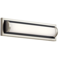 Elan 83909 Sandro LED 18 inch Brushed Nickel with Black Accent Vanity Light Wall Light