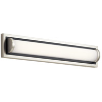 Sandro LED 24 inch Brushed Nickel with Black Accent Vanity Light Wall Light