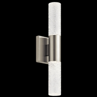 Glacial Glow LED Brushed Nickel Wall Sconce Wall Light