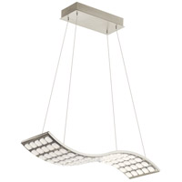 Elan 83969 Cubic Wave LED Brushed Nickel Pendant Ceiling Light