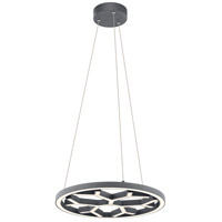 Elan 83983 Snowflake LED Charcoal Pendant Ceiling Light