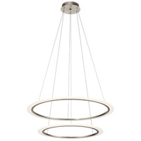 Elan 83990 Hyvo LED 37 inch Brushed Nickel Chandelier Ceiling Light