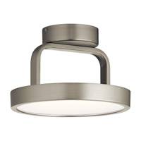 Stylus 1 Light Brushed Nickel Flush Mount Ceiling Light